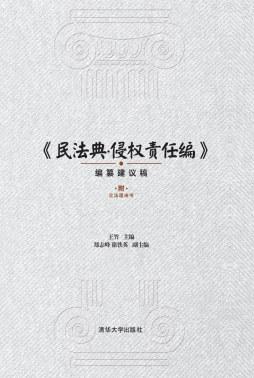 《民法典·侵权责任编》(编纂建议稿)附立法理由书 王竹、郑志峰、徐铁英 清华大学出版社